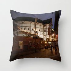 An Evening at the Globe Throw Pillow