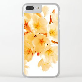 WARM BLOSSOMS Clear iPhone Case