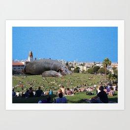 San Fran Hippos Art Print