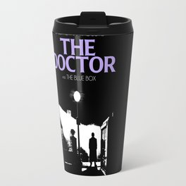 The Exorcist movie poster parody of Doctor Who 10th Travel Mug