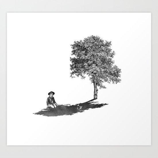 Shady Art Print