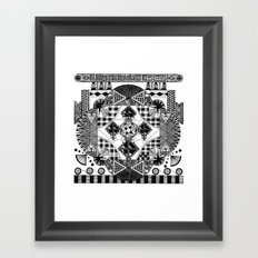 symmetry and a little bit of assymetry Framed Art Print