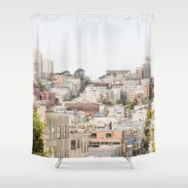 Top of a San Francisco Hill - San Francisco Photography Shower Curtain