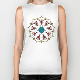 Crawfish Mandala Biker Tank