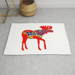 Graphic Moose 01 Swedish Dala Male Rug