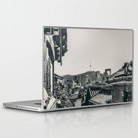 seoul Laptop & iPad Skins featuring Seoul Cityscape by Jennifer Stinson