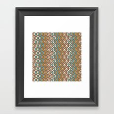 Honeycomb IKAT - Cocoa Framed Art Print