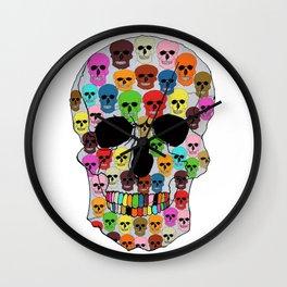 colorfull skull Wall Clock