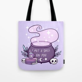 Witch Cauldron // Purple Tote Bag