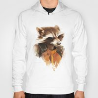 rocket Hoodies featuring Rocket by Colien