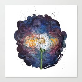 Dandelion of the universe Canvas Print