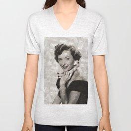 Barbara Stanwyck, Hollywood Legend Unisex V-Neck