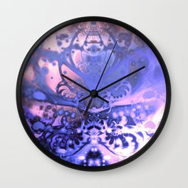 Meditating Entity (violet) Wall Clock