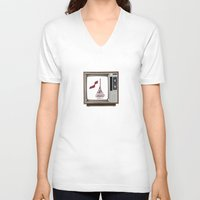 tv V-neck T-shirts featuring tv by ABTD
