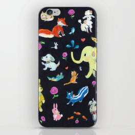 Colorful animals iPhone Skin