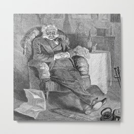 Old Bachelor in chair Metal Print