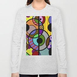 Patterned Retro - Geometric, Abstract Artwork Long Sleeve T-shirt