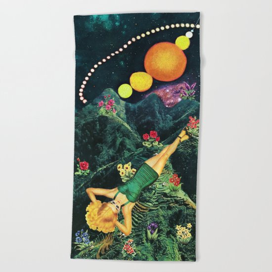 Midnight Sunbath Beach Towel