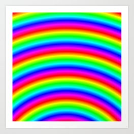 Psychedelic Neon Rainbow Art Print