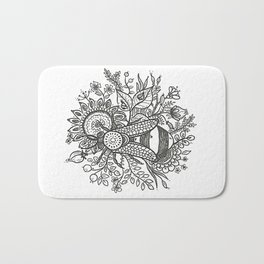 Bees and Flowers Bath Mat