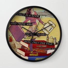 Travel The World Through Books Wall Clock
