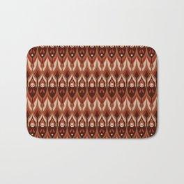 Brown and beige ethnic pattern . Bath Mat