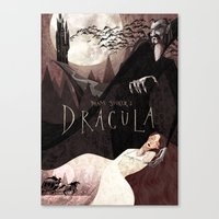 dracula Canvas Prints featuring Dracula by Anne Lambelet
