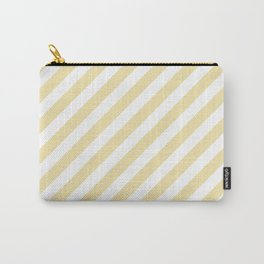 Diagonal Stripes (Vanilla/White) Carry-All Pouch
