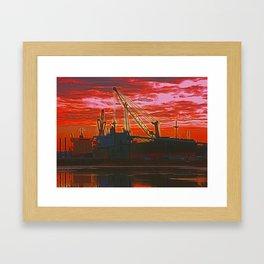 The Docks (Digital Art) Framed Art Print