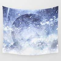 architect Wall Tapestries featuring Even mountains get cold by HappyMelvin