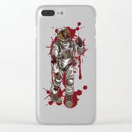 Zombie Astronaut | Horror Galaxy | Halloween Clear iPhone Case