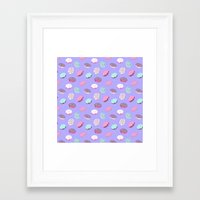 donuts Framed Art Prints featuring Donuts by heymonster