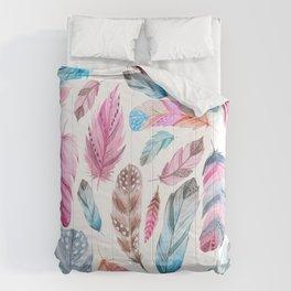 Watercolor coton Comforters