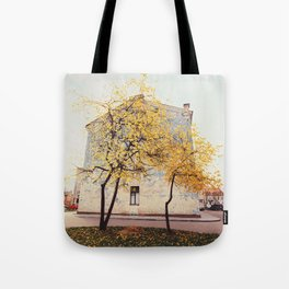 Autumn in the City, Color Film Photo Tote Bag