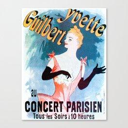 Vintage poster - Yvette Guilbert Canvas Print