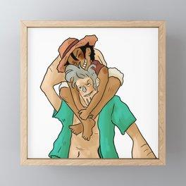 bd hugs franky Framed Mini Art Print