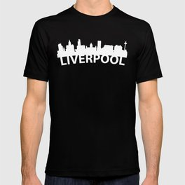 Curved Skyline Of Liverpool England T-shirt