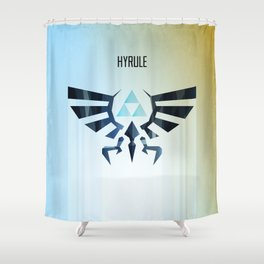 The Legend of Zelda - Hyrule Rising Poster Shower Curtain