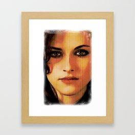 Kristen Stewart Portrait #2 Framed Art Print