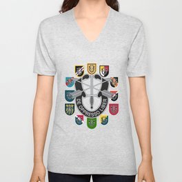 De Oppresso Liber Army Special Forces Group Beret Flashes Unisex V-Neck