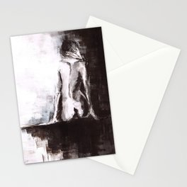 Woman nude Stationery Cards