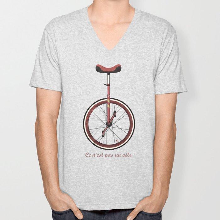 Unicycle Unisex V-Neck