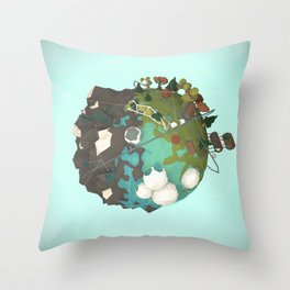 Planet Symbio Throw Pillow