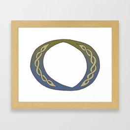 Celtic Knotwork Alphabet - Letter O Framed Art Print