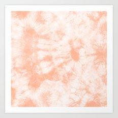 Tie Dye 3 Peach Art Print