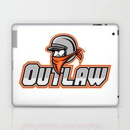 Outlaw Biker Mascot Laptop & iPad Skin