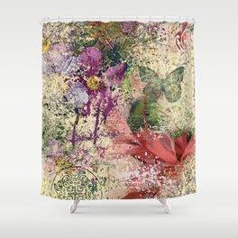 Garden shabby texture Shower Curtain