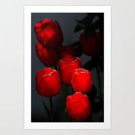 Tulip Lanterns Art Print