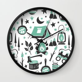 Camp Life Wall Clock