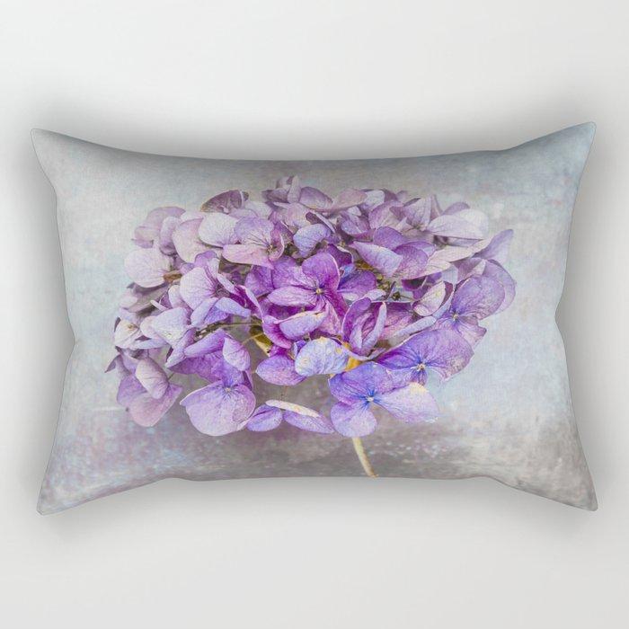 Beautiful Lilac Hydrangea Rectangular Pillow